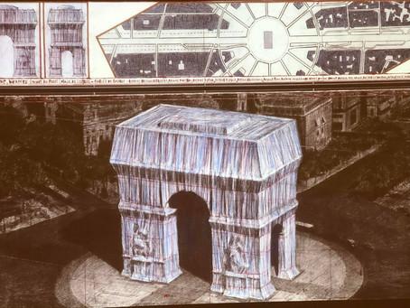 l'Arc de Triomphe par Christo et Jeanne-Claude, présentation du 18 septembre au 3 octobre 2021