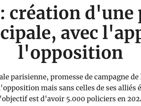 Focus sur la création d'une police municipale à Paris