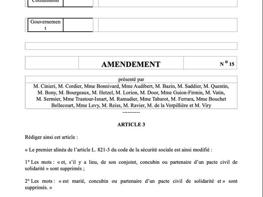 Examen le 17 juin prochain du projet loi portant diverses mesures de justice sociale