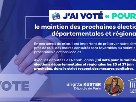 Elections Régionales : maintien des prochaines élections départementales et régionales