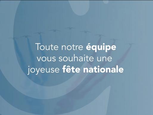 Joyeuse fête nationale du 14 juillet !