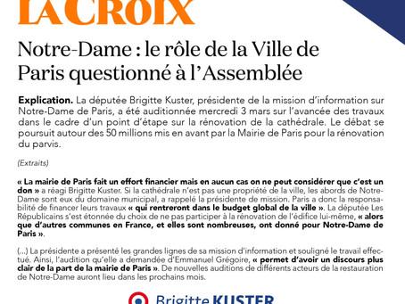 Notre Dame : le rôle de la ville de Paris questionné à l'Assemblée