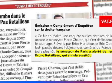 """Émission """"Complément d'Enquête"""" sur la droite française"""