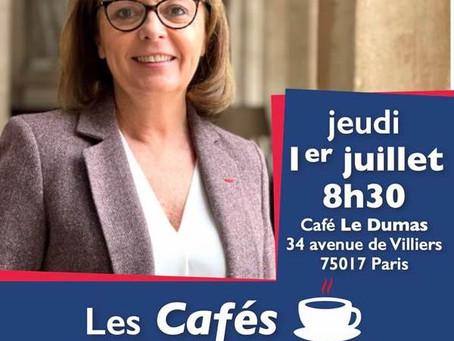 Café de la Députée jeudi 1er juillet à 8h30