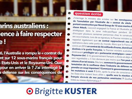 Question sur les conséquences de l'annulation du contrat d'achat des sous-marins français