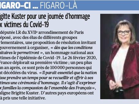 Le Figaro : Brigitte Kuster pour une journée d'hommage aux victimes du Covid-19