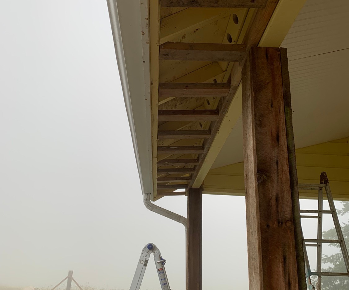 Post Wrapped and Soffits Framed