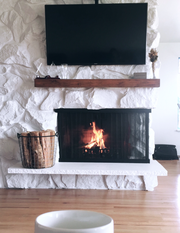 ...To Rustic Farmhouse Fireplace