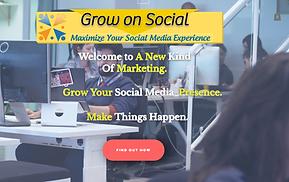 www.growonsocial.com web page screenshot