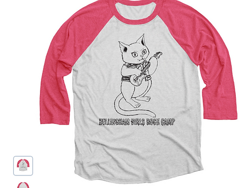 Adult Kitty Rock Baseball T