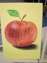 Ölpastell - Apfel