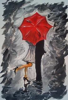kuss im Regen