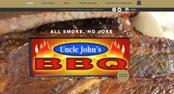 Uncle Johns Landing page