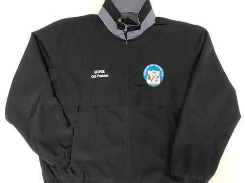 Port Authority Legacy Jacket in Black/Steel Grey.  Includes Emblem