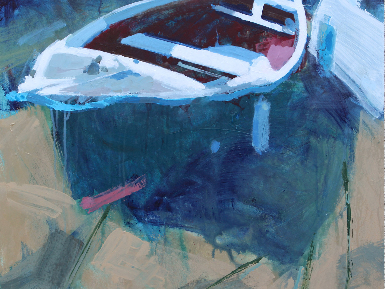 The Porth, Portscatho, Green boat