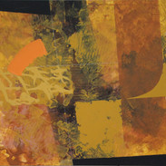 Ochre earth abstract