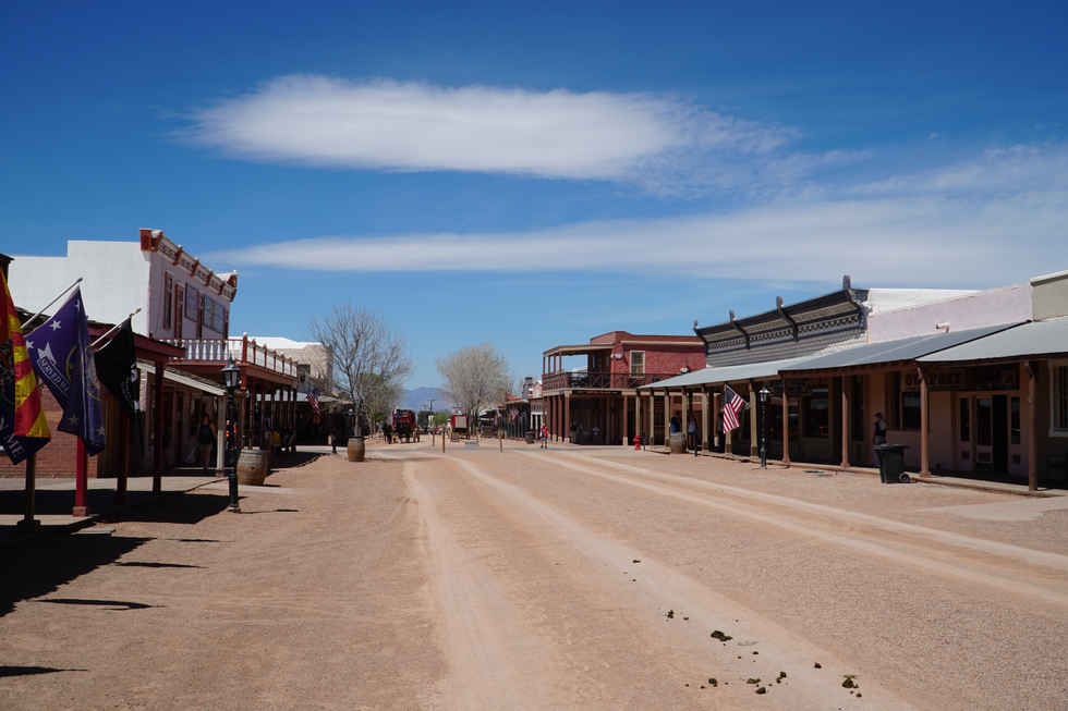 Allen Street is the main lifeline of the tourist attraction that is now Tombstone, AZ.