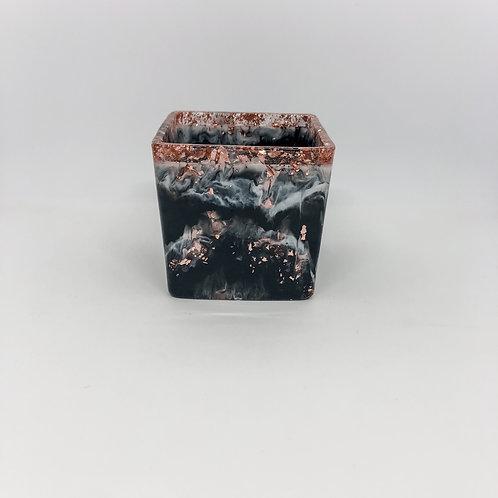 482 - 8cm Square Resin Potter