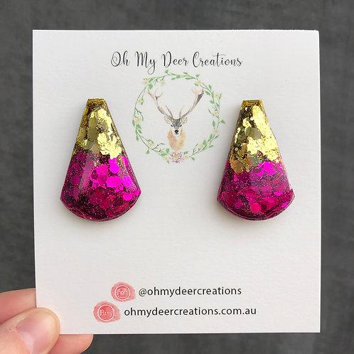 224 - Glitter Resin Statement Earrings