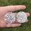Thumbnail: 606 - Glitter Resin Statement Hoops