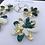 Thumbnail: 582 - Glamour Flower Resin Statement Dangles - Large