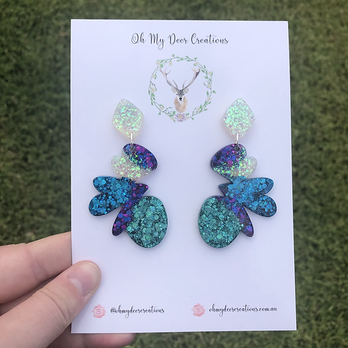 624 - Statement Resin Butterfly Dangles