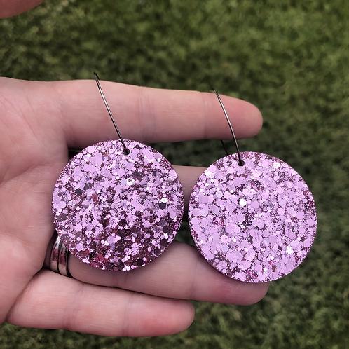 604 - Glitter Resin Statement Hoops