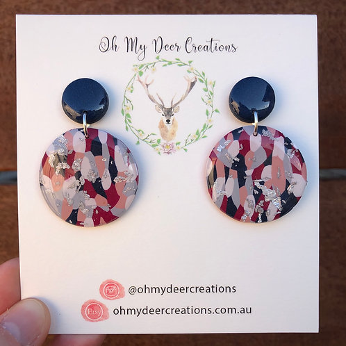 249 - Polymer Clay Statement Dangles
