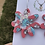 Thumbnail: 328 - Glamour Flower Resin Statement Hoops - Extra Large