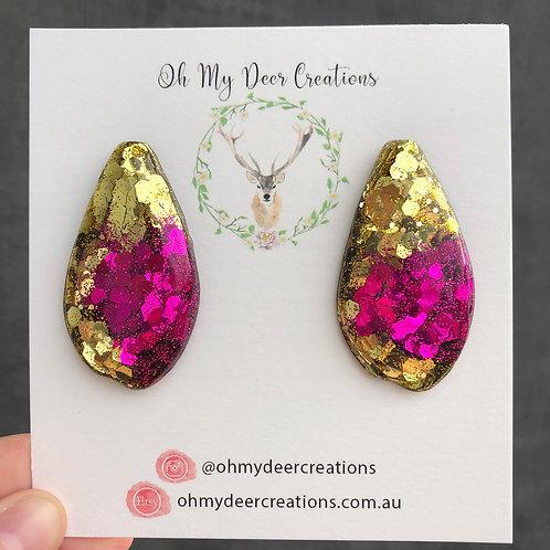 226 - Glitter Resin Statement Earrings