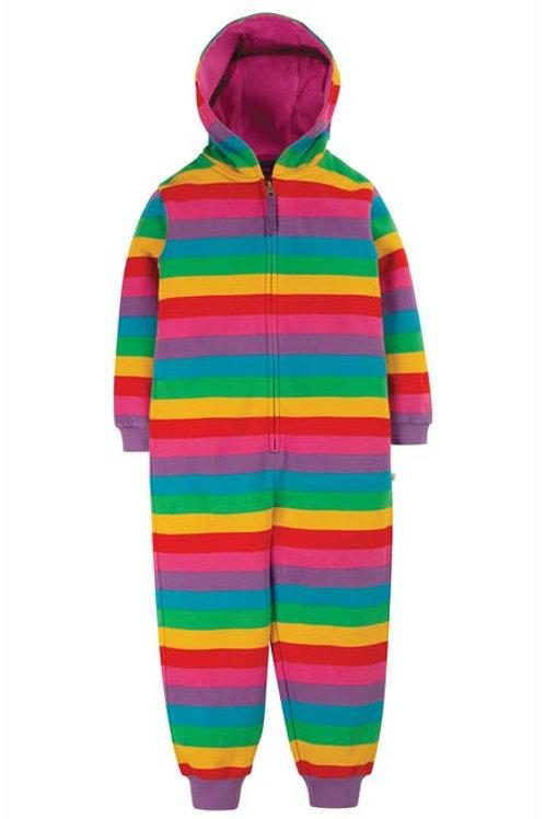 Frugi Big Snuggle Suit Rainbow