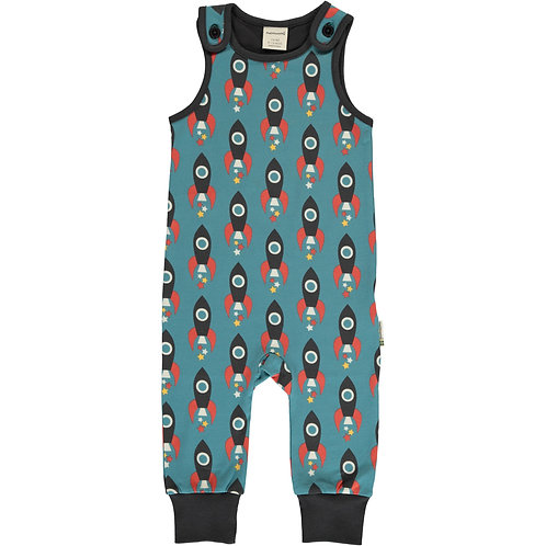 Maxomorra Moon Rocket Dungarees