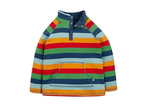 Frugi snuggle fleece - rainbow stripe