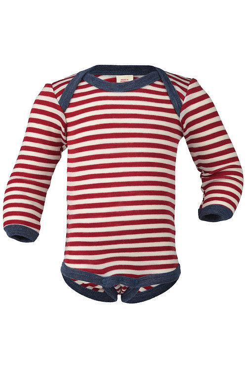 Engel merino wool long sleeve bodysuit stripes