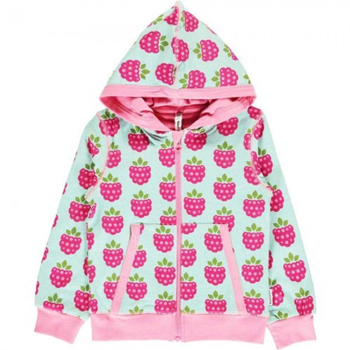 Maxomorra Raspberry Hooded Cardigan
