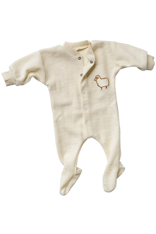 Engel merino wool terry sleepsuit