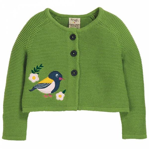 Frugi Finch Annie Applique Cardigan