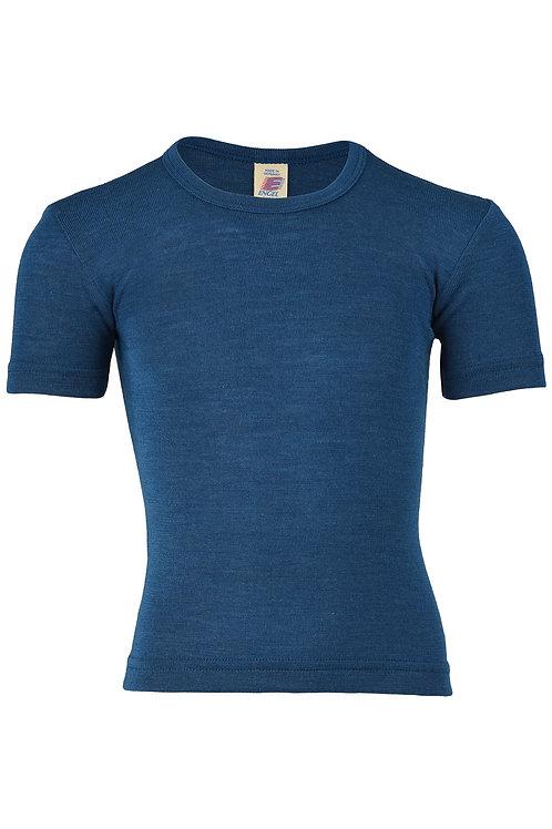 Engel short sleeved vest in organic merino wool and silk - colour