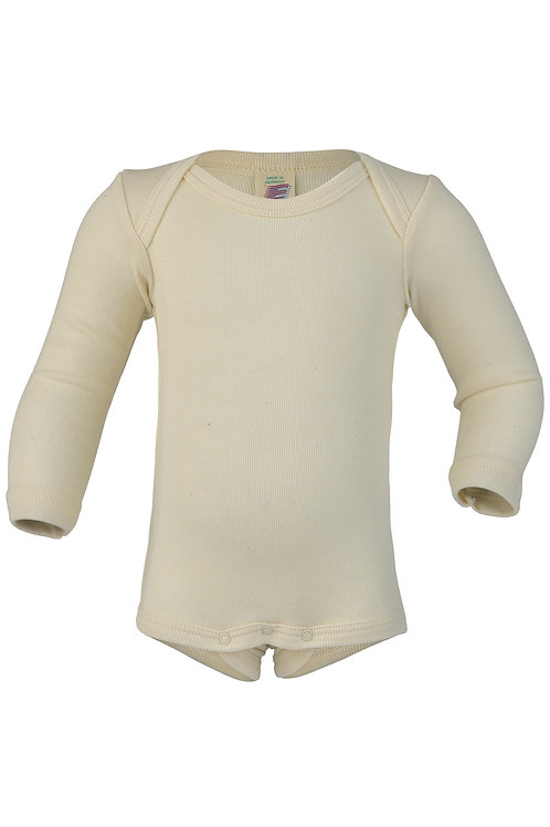 Engel long sleeve bodysuit in merino wool and silk