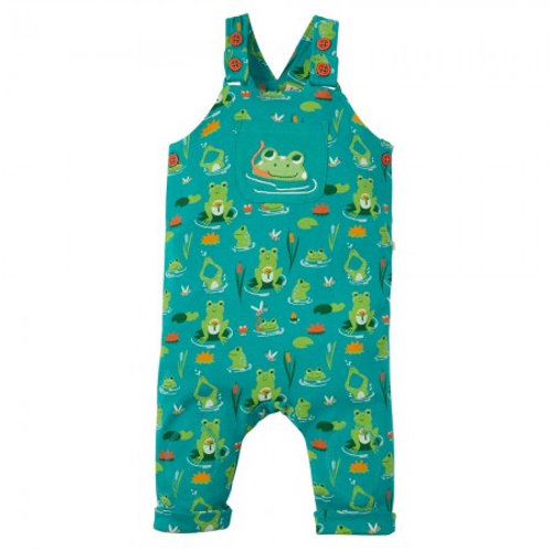 Frugi Lovely Day Frog Dungarees