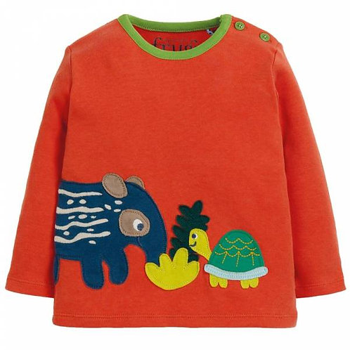 Frugi Tapir Wilf Wraparound Applique Top
