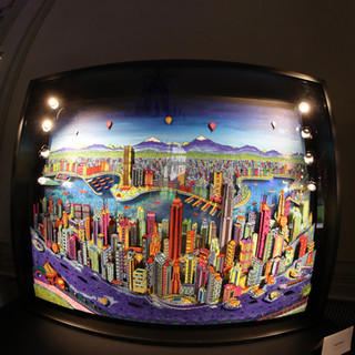 Hong Kong 3D by night