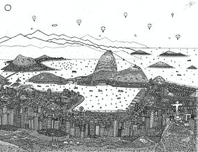 Rio de Janeiro black and white