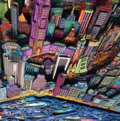 New York 3D by night