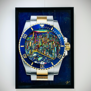 Rolex New York city by night (70x50 cm)