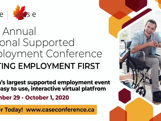 CASE's 25th Annual Supported Employment Conference is VIRTUAL!
