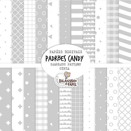 Seamless Pattern - Cinza Candy
