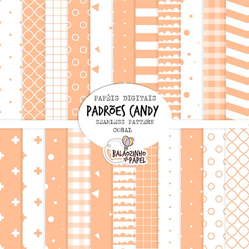 Seamless Pattern - Coral Candy