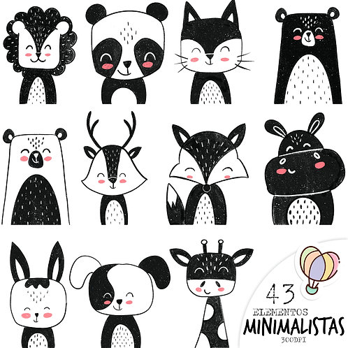 CLIPARTS Animais minimalistas