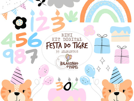 FREEBIE Kit digital Festa do Tigre